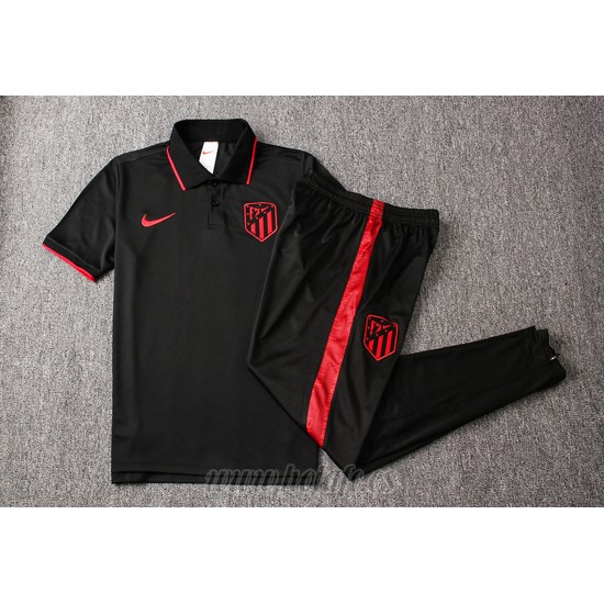 Conjunto Polo Atletico Madrid 2019-2020 Negro