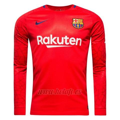 Comprar Camiseta Barcelona Portero Manga Larga 2017-2018 Rojo c8e16089ce9