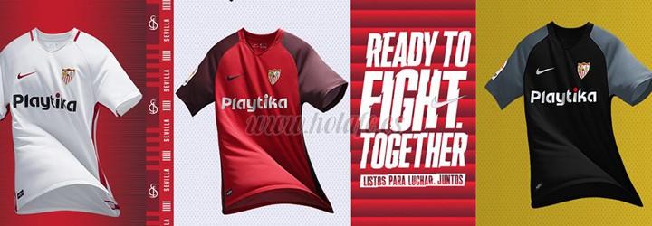 camiseta de futbol Sevilla barata